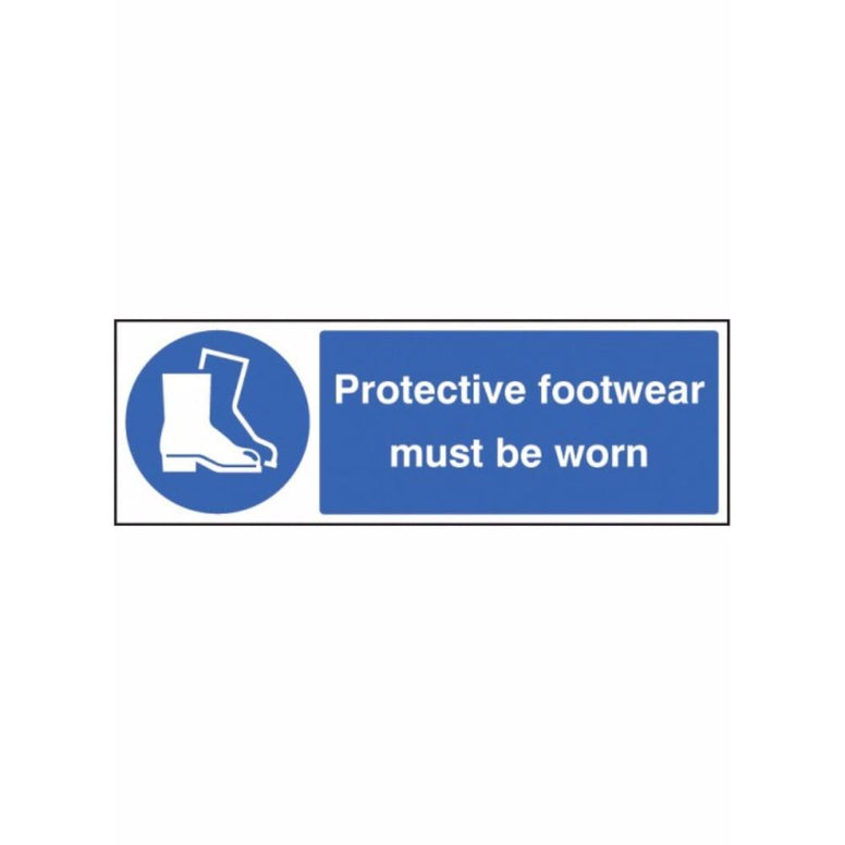 Protective footwear must be worn sign from Floorsaver