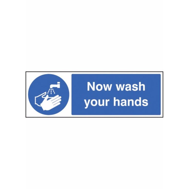 Now wash your hands sign from Floorsaver
