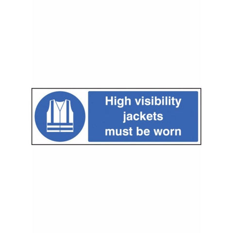 High visibility jackets must be worn sign from Floorsaver