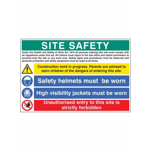 Site safety - construction work in progress sign from Floorsaver