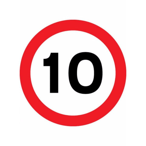 10 mph sign from Floorsaver