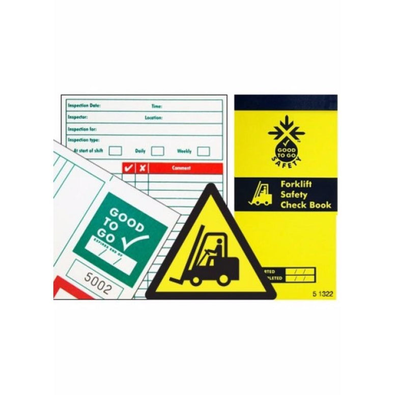 Good to go safety forklift check book from Floorsaver