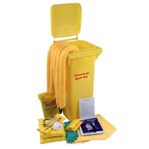 Universal Spill Wheeled Bin for Chemical Spills from Floorsaver