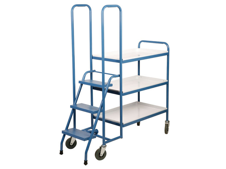 3 Shelf Low Steel Order Picking Trolley