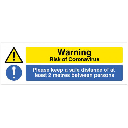 Risk of Coronvirus Sign