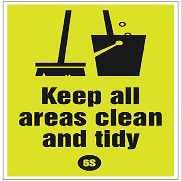 6S Keep Areas Clean Poster