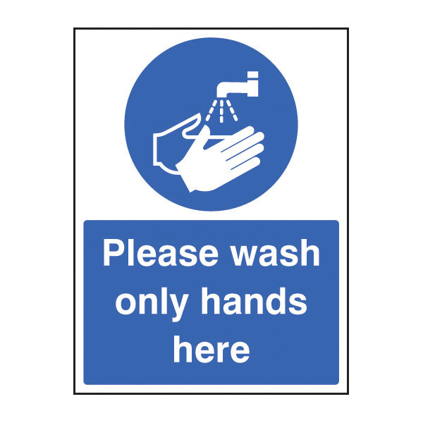 Wash Hands Only Here Sign