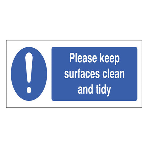 Clean and Tidy Surfaces Sign