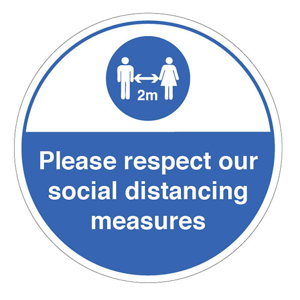 Respect Social Distancing Measures Floor Marker