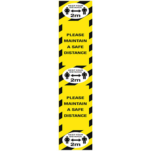 Maintain a Safe 2M Distance Floor Marker