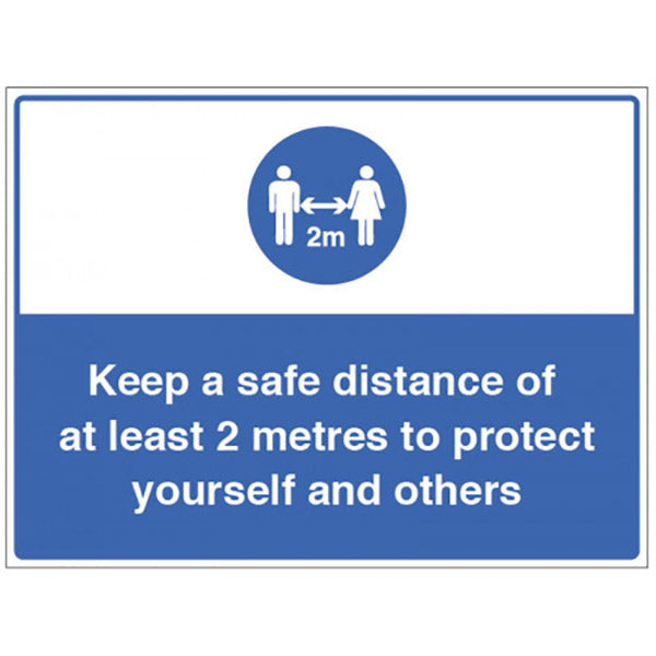 Keep a Safe Distance Cone Mounted Sign