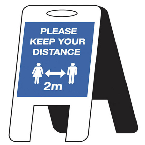 Keep Your Distance Free-Standing Sign