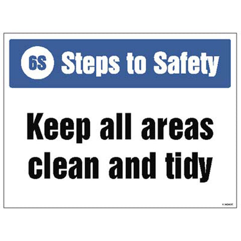 6S Steps to Safety Sign
