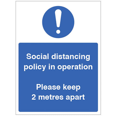 Social Distancing Policy Sign