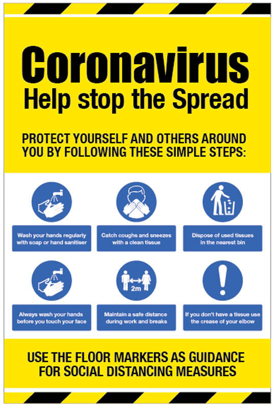 Coronavirus Help Stop the Spread Sign