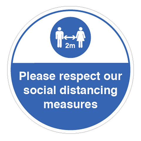 Respect Social Distancing Measures Sign
