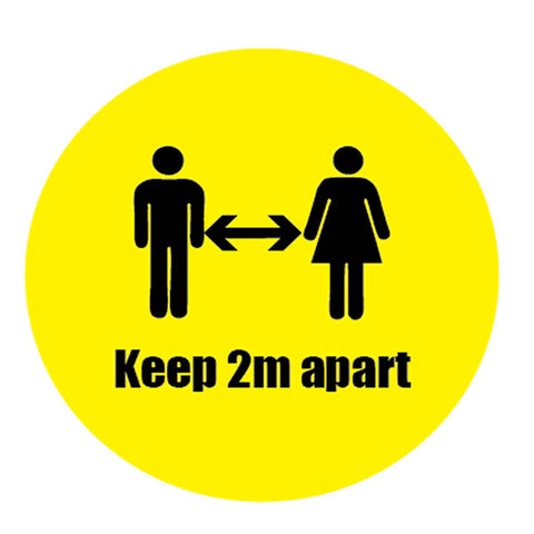 Keep 2M Apart Sticker