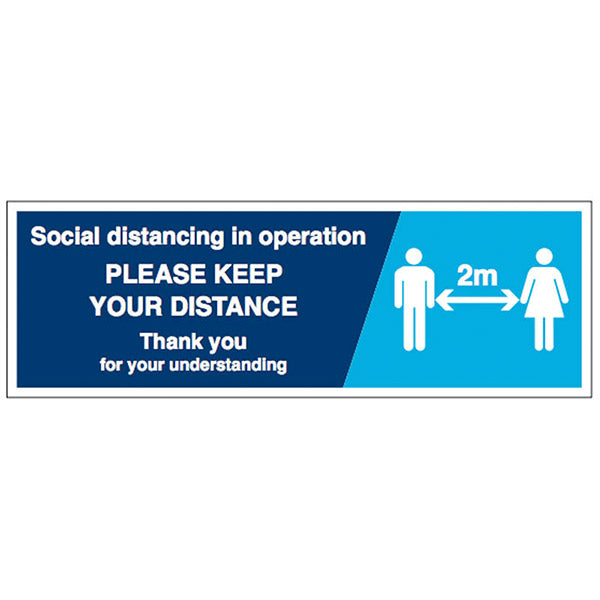 Social Distancing In Operation Sign