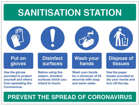 Sanitisation Instructional Sign