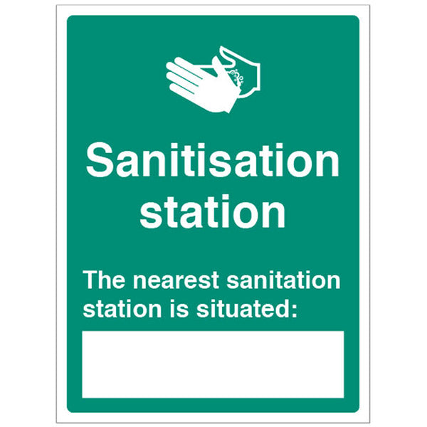 Hand Sanitiser Location Sign