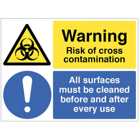 Risk of contamination sign