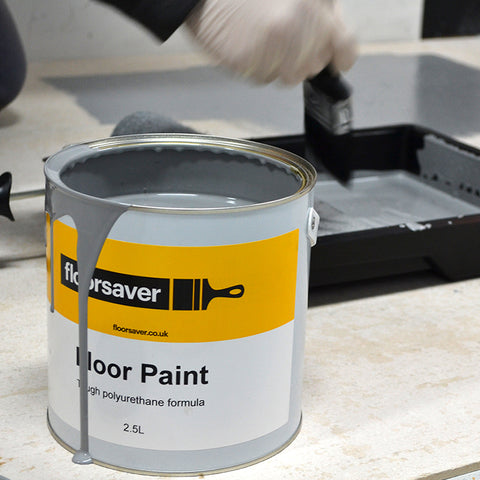 Floor Paint in floorsaver Roller & Tray