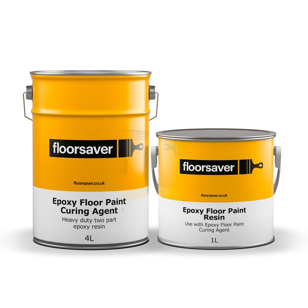 Epoxy Floor Paint 5l Heavy Duty 2 Part Epoxy Concrete