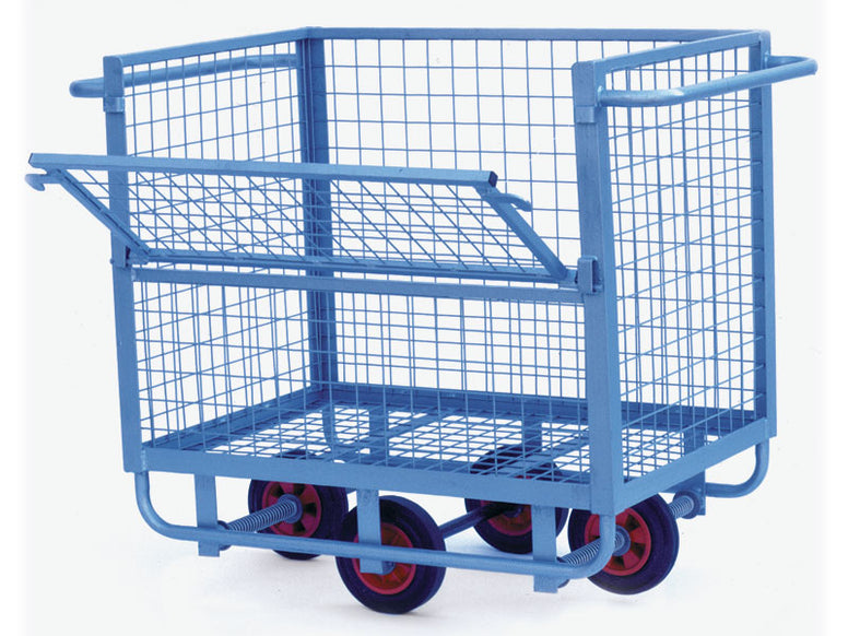 Light Duty Hinged Side Mesh Cart