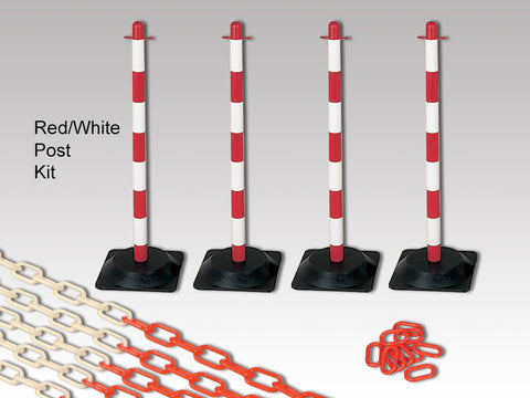 Rubber Base Plastic Chain and Post Kits