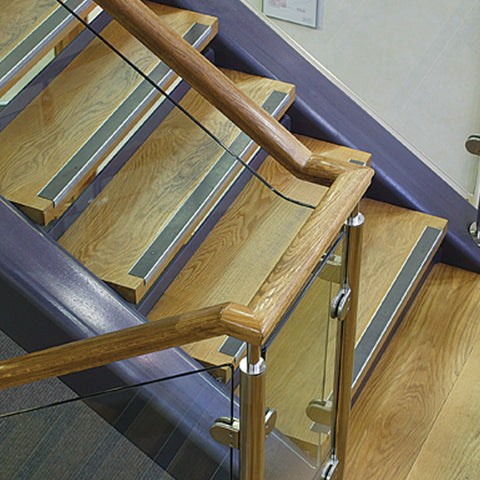 Floorsaver Stair Nosing on wooden stairs