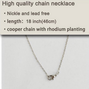 Tear Drop Rhodium Plated Essential Oil Necklace