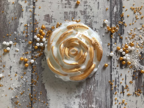 Gilded Rose Shower Favor - White