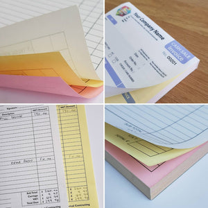 Personalised Invoices, Receipts, Job Sheets, Order Pads, Transfer Forms etc