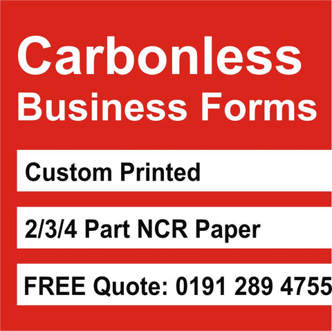 Carbonless NCR Forms Business Printed