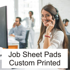 Job Sheet Pads custom printed