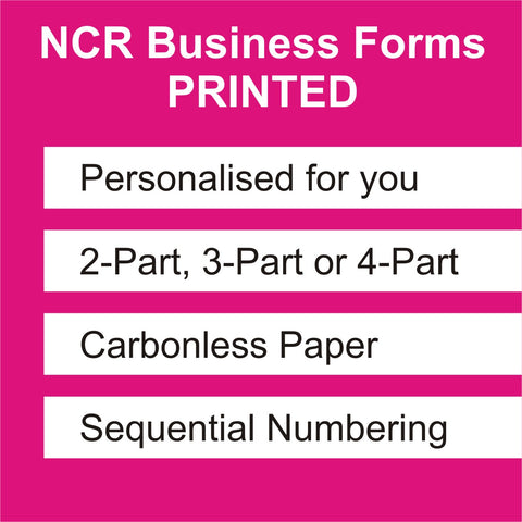 Personalised Delivery Note Pads & Service Sheet NCR Books Printing Service