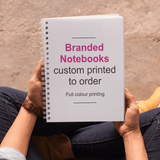 Notebooks Note Books - Custom Printed MD Print Shop 10 Books of 50 sheets A4 (Paper Size: 210mm x 297mm) Cover printed full colour one side only