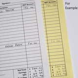DL Duplicate NCR Books (2 part) - MDPrintShop.co.uk