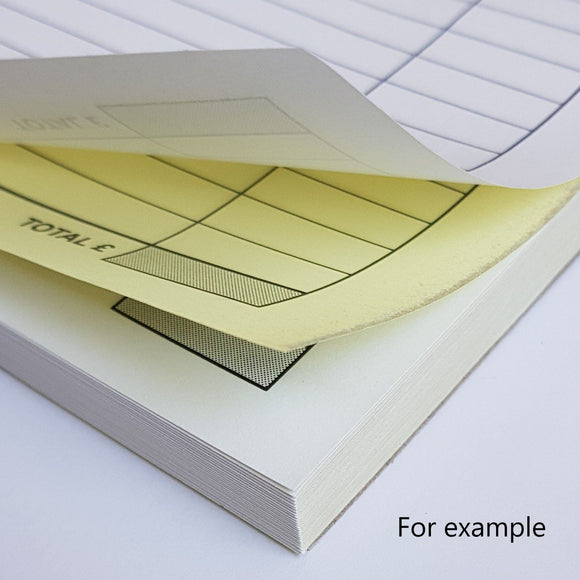 DL Duplicate NCR Pads (2 part) DL Duplicate NCR Pads (2 part) MDPrintShop.co.uk 5 Pads of 50 Duplicate NCR Sets Single Colour Printing on all sheets Printed to the front of all sheets