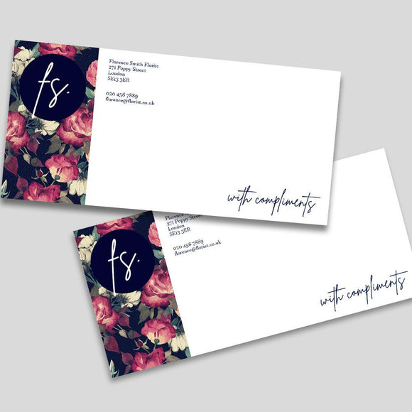 Compliment Slips Compliment Slips MD Print Shop 100 120gsm Premium Uncoated White Paper Printed One Side Only