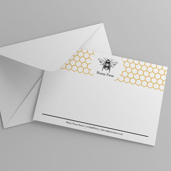 Correspondence Cards Correspondence Cards MD Print Shop 25 350gsm. Silk Card Printed One Side