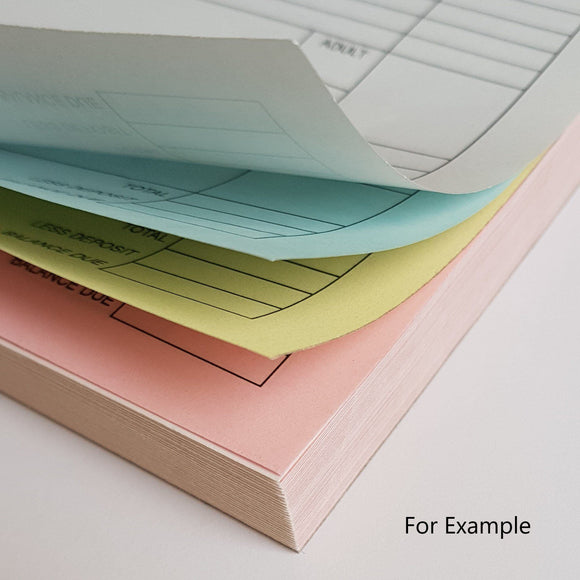 A6 Quadruplicate NCR Pads (4 part) A6 Quadruplicate NCR Pads (4 part) MDPrintShop.co.uk 5 Pads of 50 Quadruplicate NCR Sets Single Colour Printing on all sheets Printed to the front of all sheets
