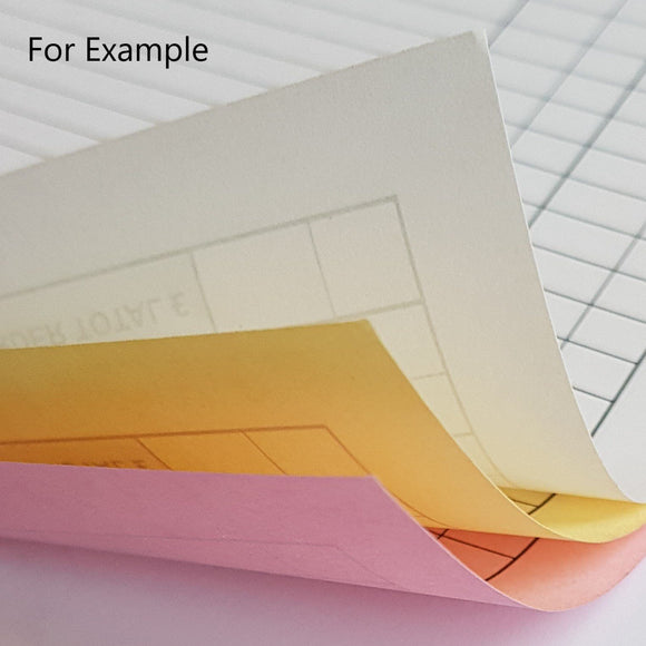 A4 Triplicate NCR Sets A4 Triplicate NCR Sets MD Print Shop 250 Triplicate NCR Sets Printed to front of all sheets Single Colour Printing on all sheets