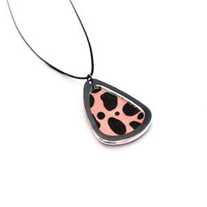 Sorbet Animal Print Teardrop Necklace