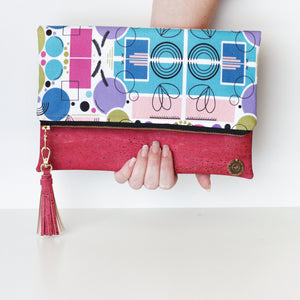 Abstract Fold Over Clutch