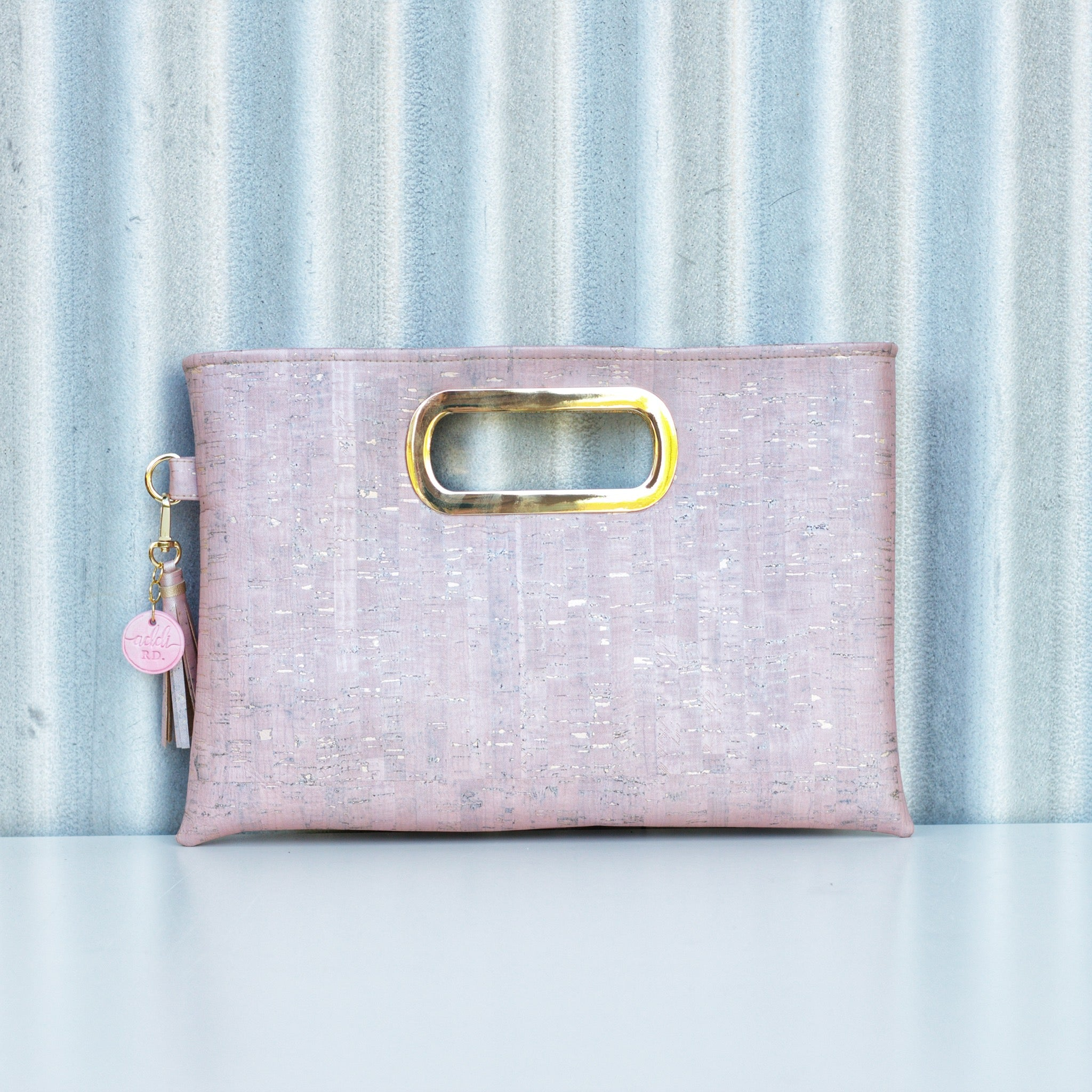 Rose Gold Cork Statement Clutch