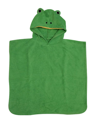 Perfect hooded toddler towel. Frog design. Ideal for bath time and the beach.
