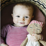 A gorgeous organic rag doll. Organic first doll, non-toxic and plastic free doll. organic soft doll. Organic soft toy. organic baby toys
