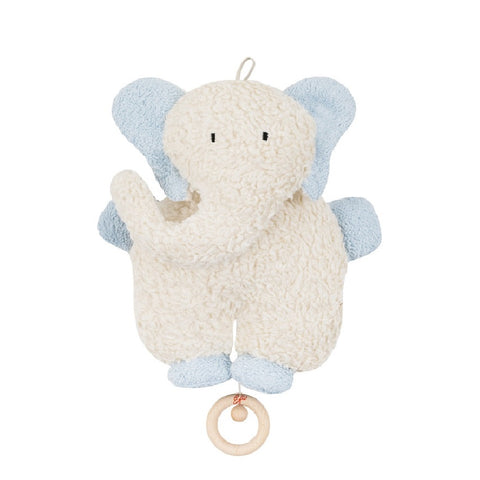 An organic elephant musical toy. Organic soft toy. Organic baby gift. Soft musical toy . Organic baby toy.