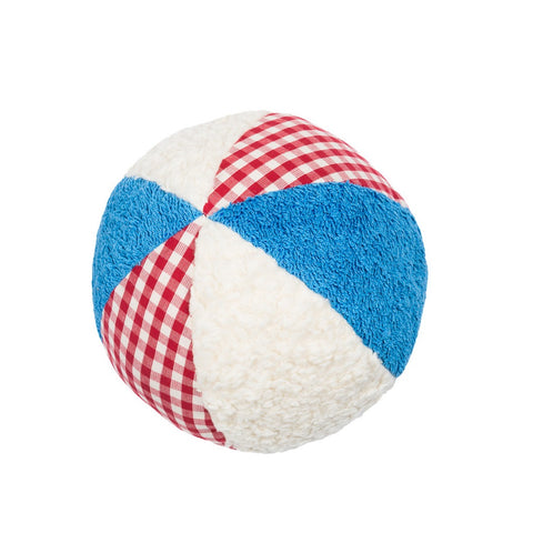 An organic soft baby ball perfect as a first toy or new born present. Luxury baby toy. Organic baby toy. Organic soft ball cuddly for babies. Organic Baby gifts.